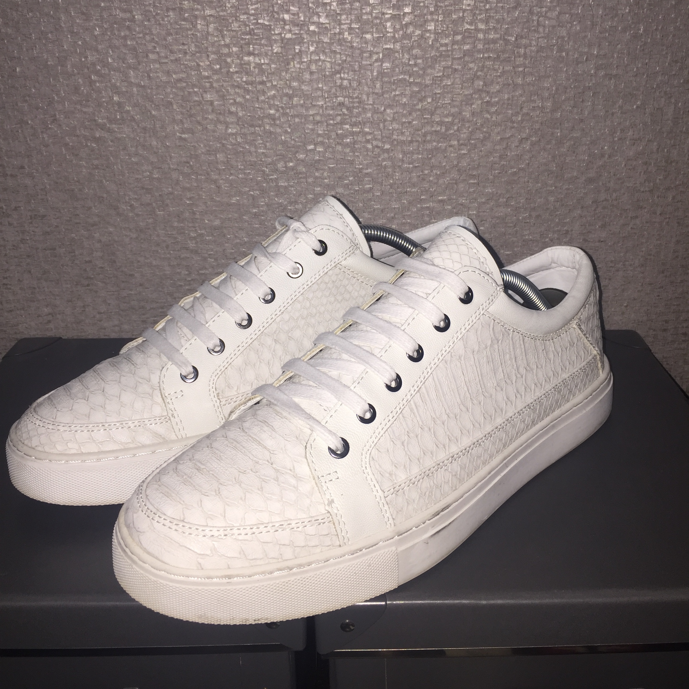 best quality great fit official supplier White Mens Trainers Kurt Geiger - Snakeskin Will... - Depop