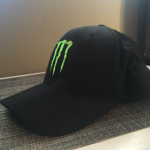 63af8a1b54 MONSTER ENERGY BASEBALL CAP IN BLACK AND GREEN MERCH  PRICE - Depop
