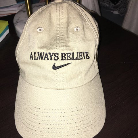 dd58800e Brand new Nike adjustable hat! Beautiful tan color, but wore - Depop