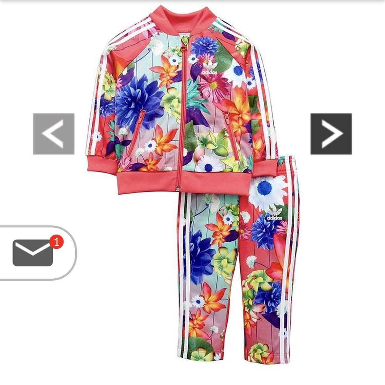 Baby girls Adidas floral tracksuit