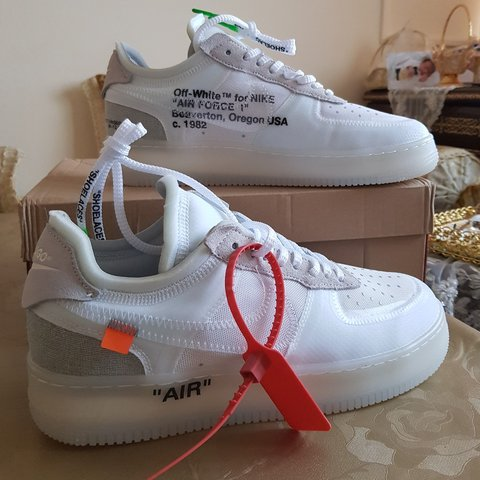 806954677eb off white x air force 1 authentic off white air force dead - Depop