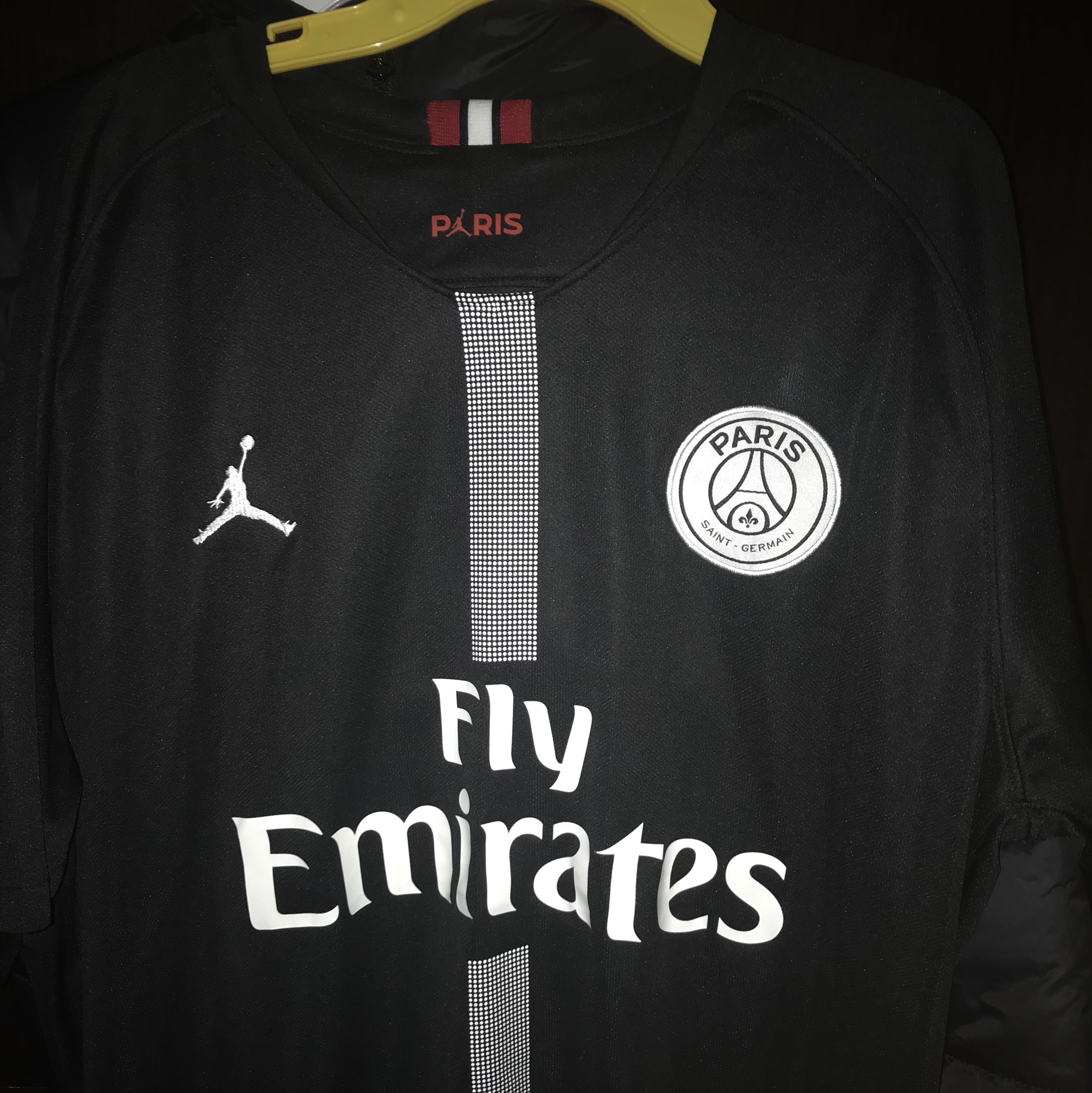 competitive price ed7a9 8a1ae By Photo Congress || Mbappe Jordan Jersey Black