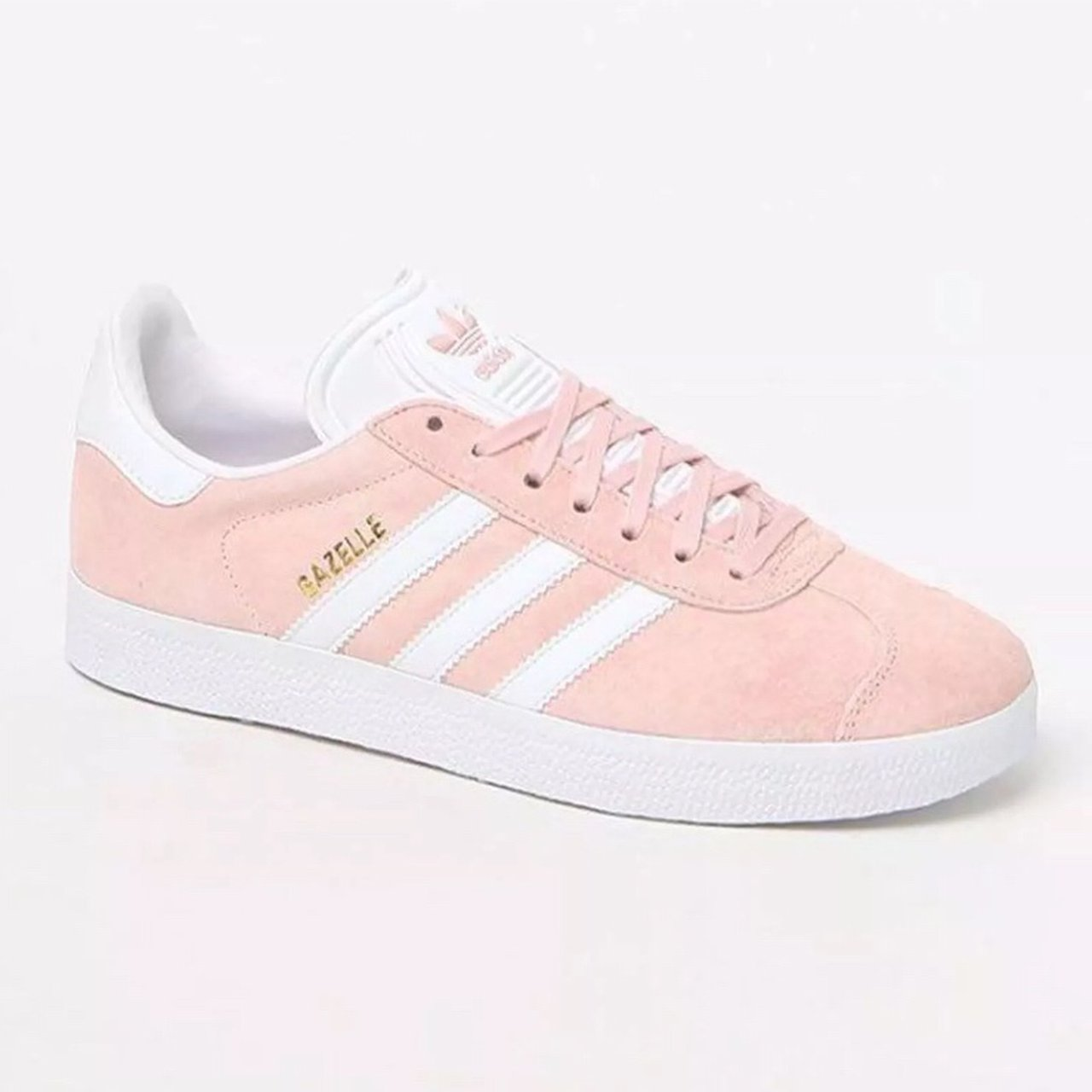 pink suede adidas gazelles. super cute!!! in excellent used - Depop b2be3242e