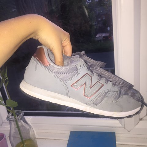 67a918ce36b8 Grey   Rose Gold   White New Balance 373 Trainers. Good 5 - - Depop