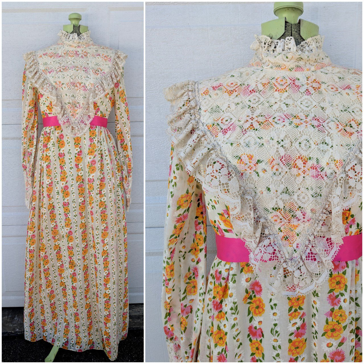 GORGEOUS VINTAGE FLORAL LONG SLEEVE- 0