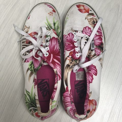 38c7d839458e Floral vans limited edition Perfect for summer 🌺🌺 Size but - Depop