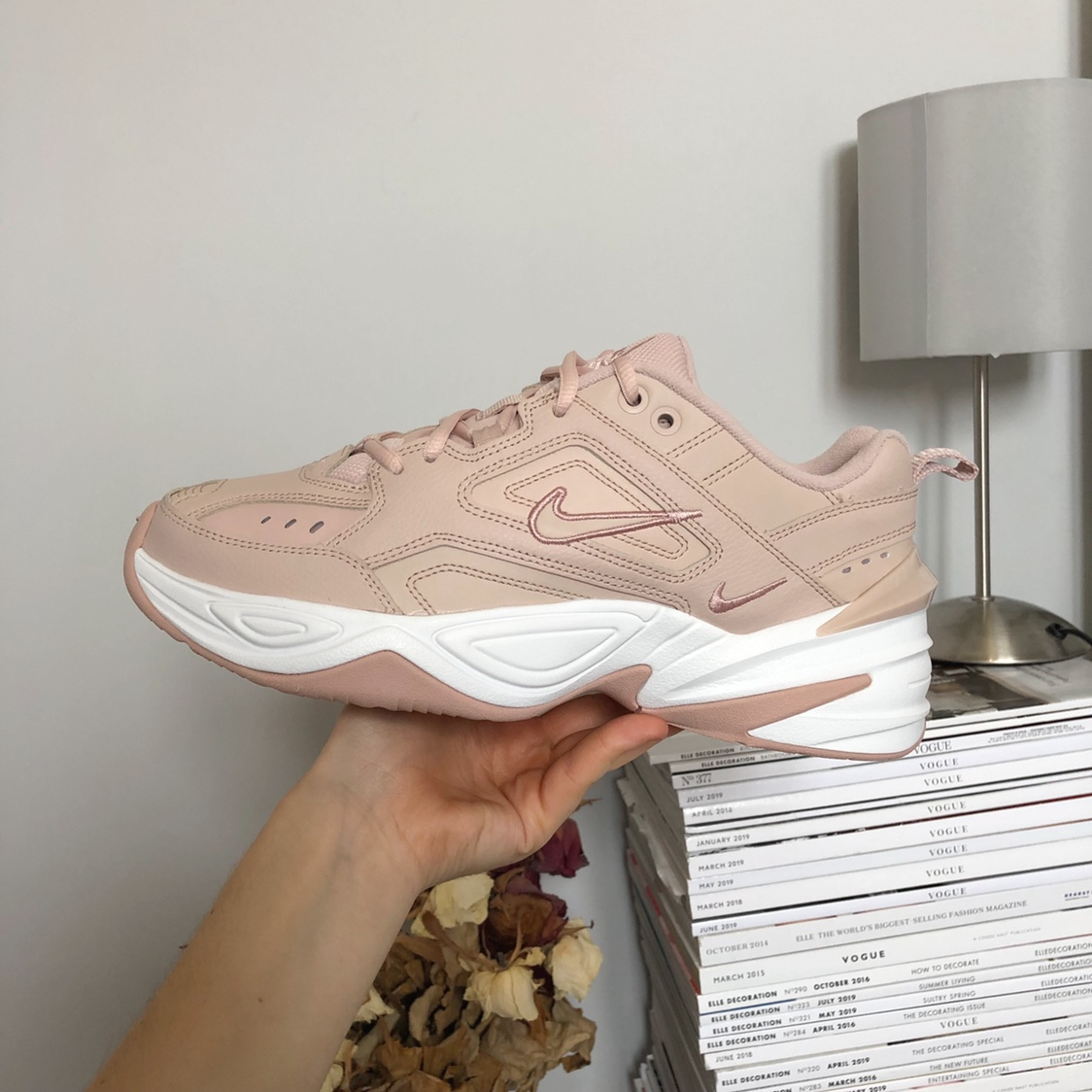 Nike M2K Tekno trainers in light pink