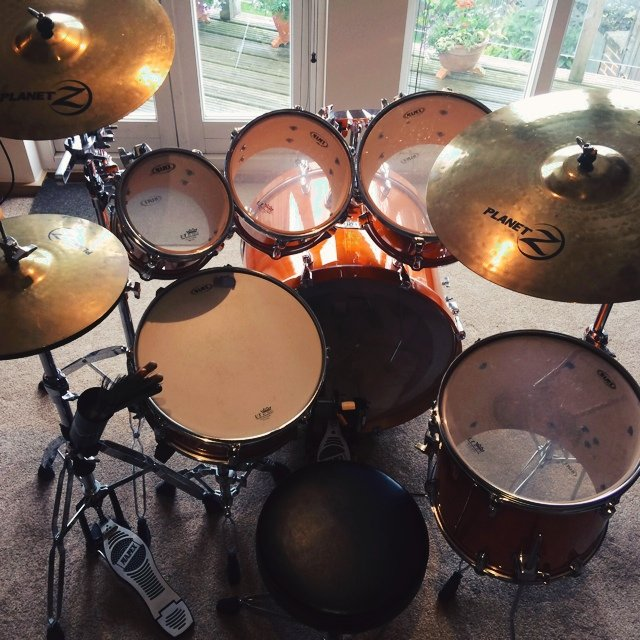 Mapex M Birch 6 Piece Drum Kit For Sale Standard 5 Set Up With Additional 8 Tom Fantastic Transparent Honey Amber Colour Comes Complete Full