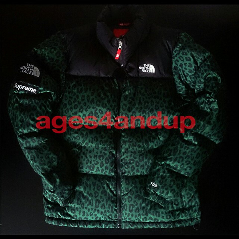 cf747d3b8 SUPREME x The North Face TNF F/W '11 Green Leopard... - Depop