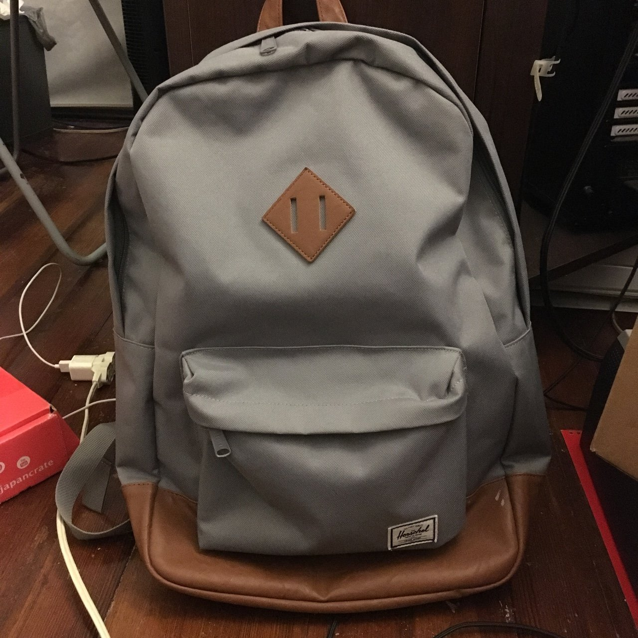 264198c36d50 🍟 DONATING ON 12 31 19 🍟 🌸 Herschel Grey Tan Synthetic a - Depop