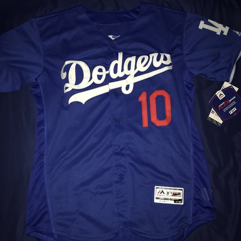 official photos ef66b 01187 Justin Fully Blue Depop Turner Dodgers Authentic - Stitched ...