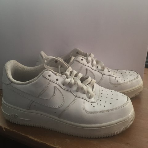 d6d14a2fe @rodiet. 2 years ago. Leicestershire, UK. Nike Air Force one. Size 5.5.  White