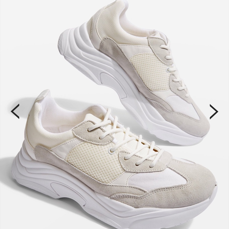 topshop ciara chunky trainers in white
