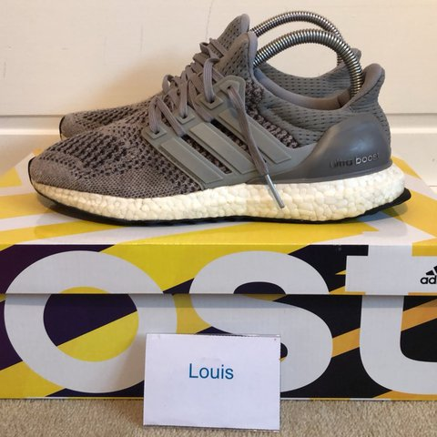 53d3e98a76fa3 Adidas Ultra boost 1.0 - Wool grey Size  UK6 Rare shoe - - Depop