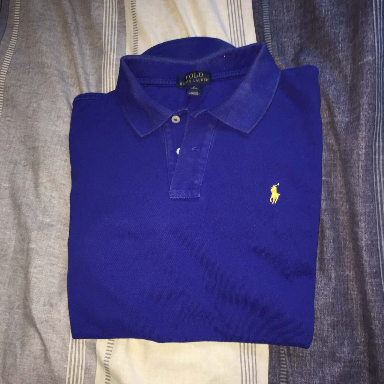 Polo Blue Lauren Poloshirt With Yellow Depop Royal Ralph BeCxrdo