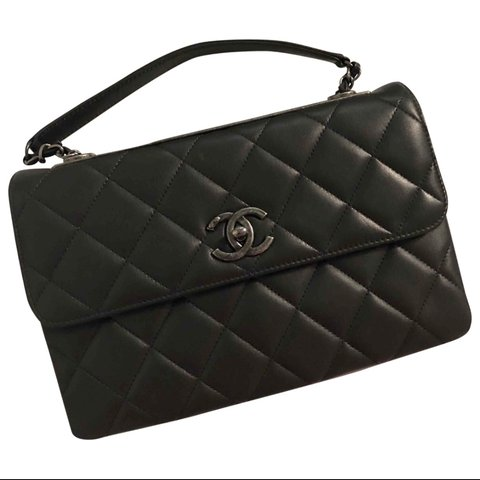 cc5c74863a67 CHANEL QUILTED LAMBSKIN TRENDY CC TWO WAY FLAP BAG WITH CC a - Depop