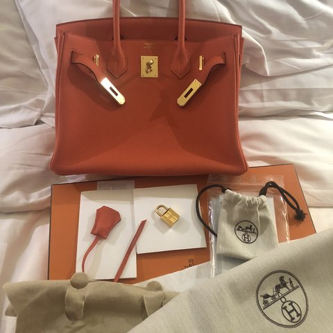 e8c394237d46 Hermes Birkin bag 30 Togo Orange Poppy