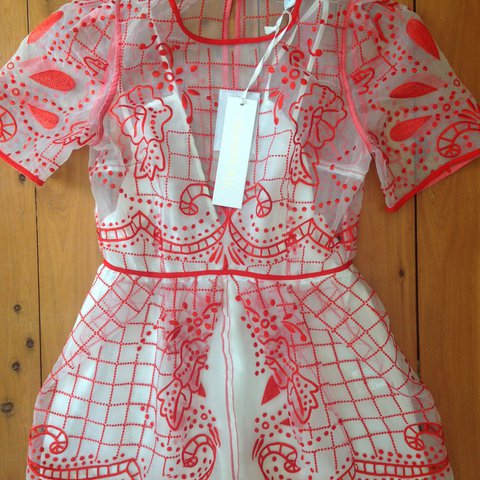 dea0a71a58 Alice McCall  Space Is the Only Noise  Playsuit in red   10 - Depop