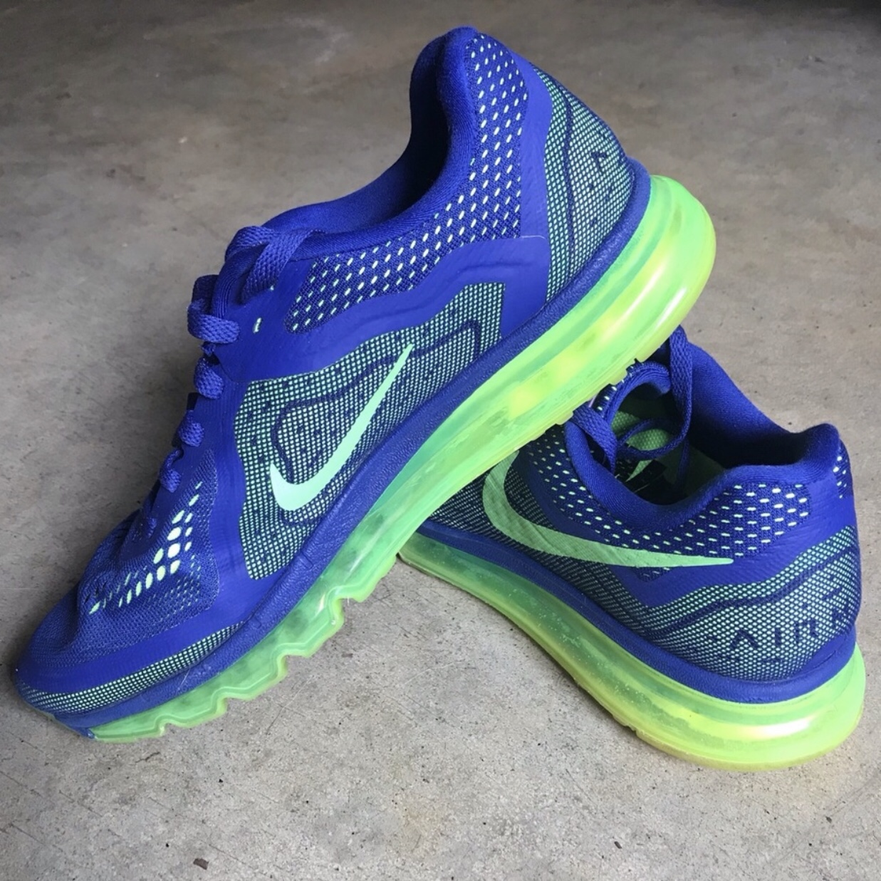 Nike Air Max 2014 Deep Royal Blue Electric Depop