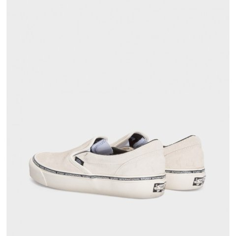 26855b6a040 Vans x stussy exclusive drop. Sold out. Slip on. Washed UK - Depop