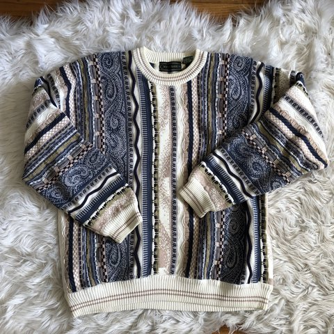 6ce2e51ab Unique vintage chunky sweater Thrifted