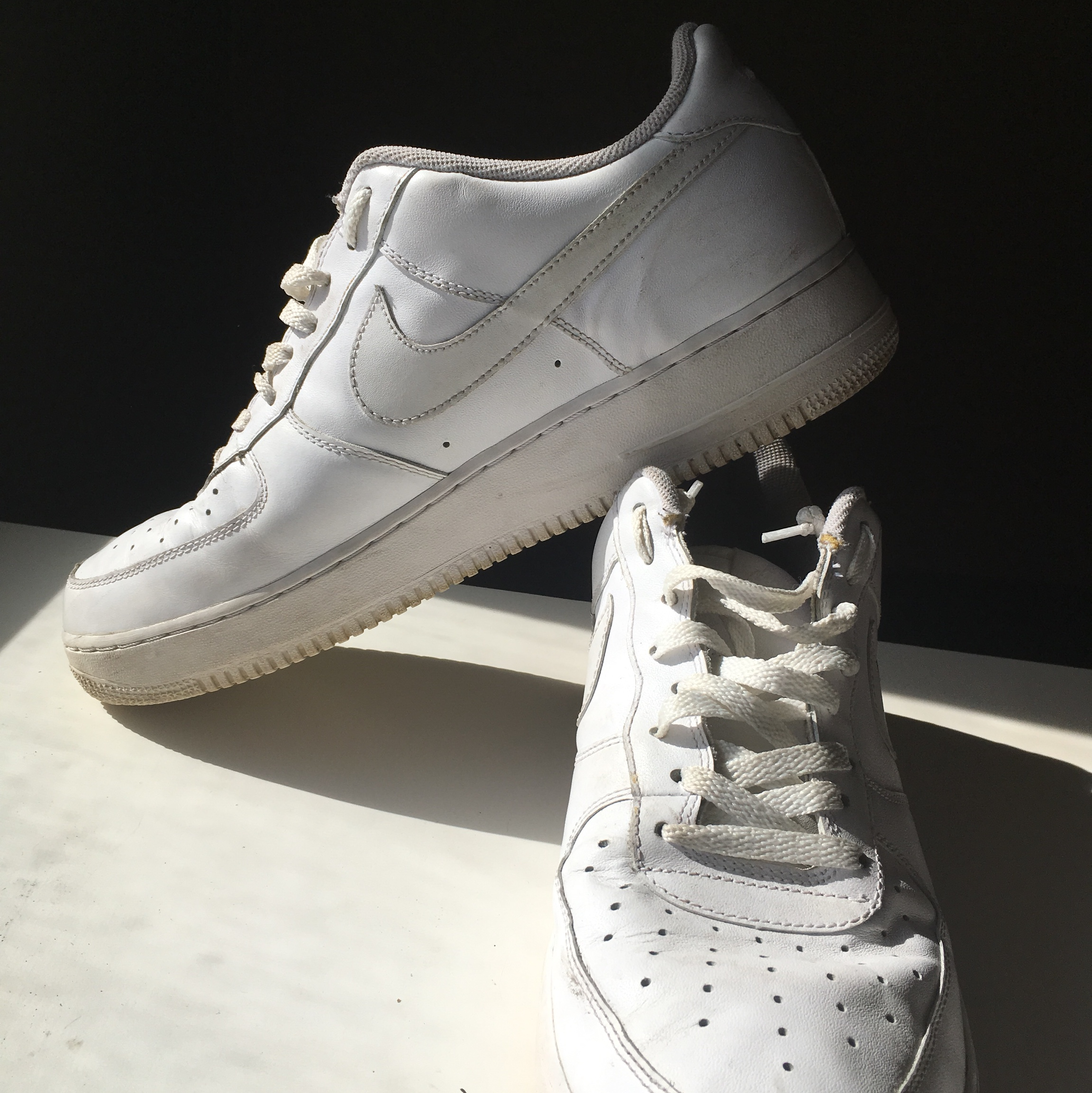NIKE ALL WHITE AIR FORCE ONES Mens size 12 - Depop