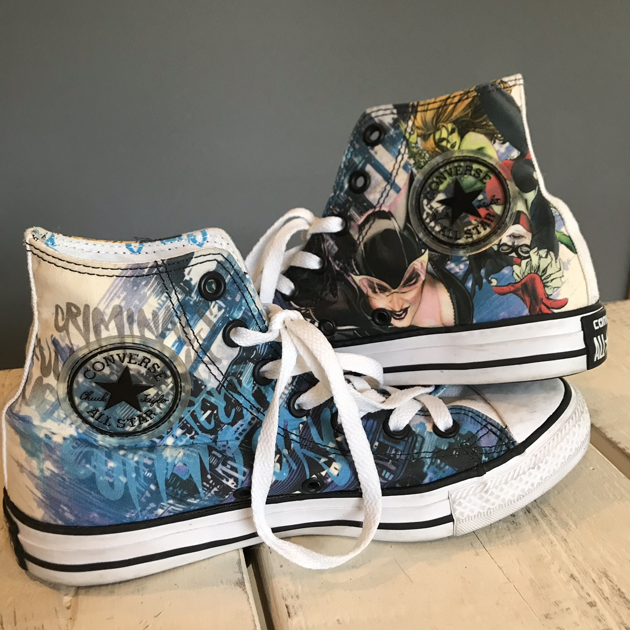 get new online for sale uk store ✨ON HOLD✨ DC Comics x Converse Collab — Gotham City... - Depop