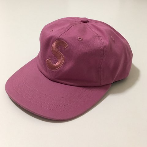40e6607cd99 F W 17 Bright Rose Supreme Tonal S Logo 6-Panel Cap Wore hat - Depop