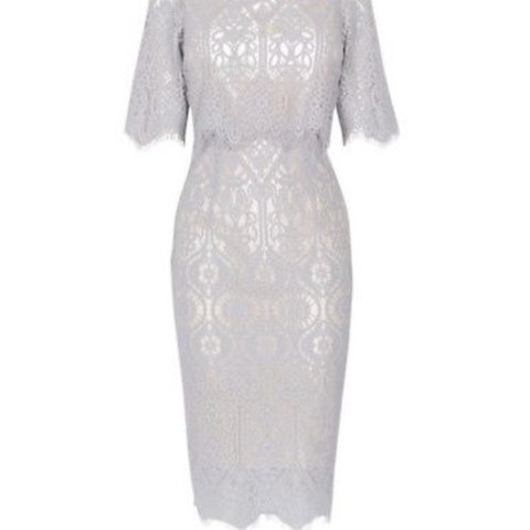 52824000d64b @abigailsimmons. 10 months ago. Liverpool, United Kingdom. Grey lace Coast  Bardot dress size ...
