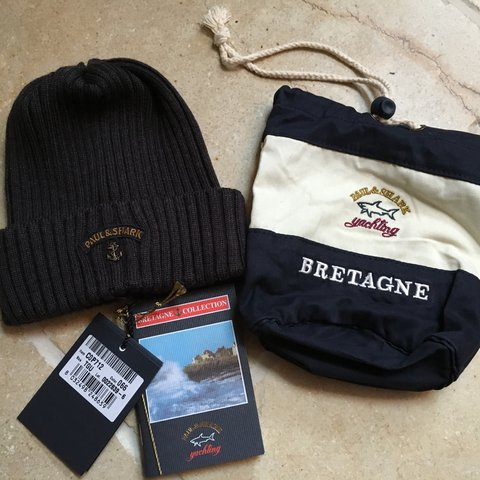 9aa117bdcf923 Paul   Shark Bretagne Beanie Hat Grey Brand new with Tags   - Depop