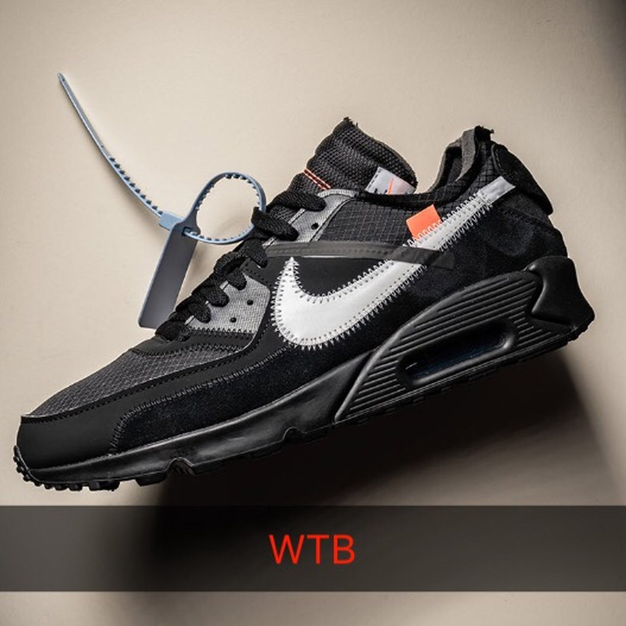 f07697a20059d4 WTB Nike Off White Air Max 90 In Black Size UK 8.5 Tell me - Depop
