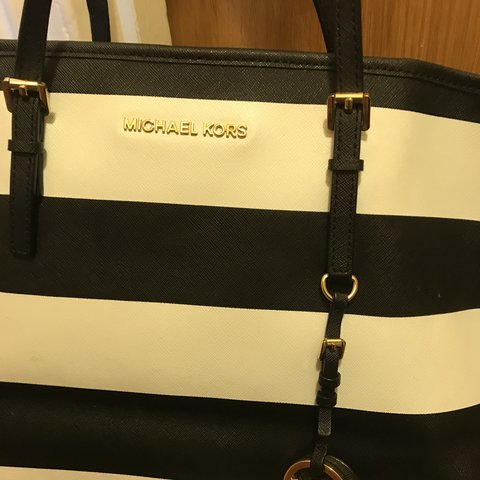 3761dc57cac1 New lower price 😊😄 Michael Kors black and white stripes - Depop