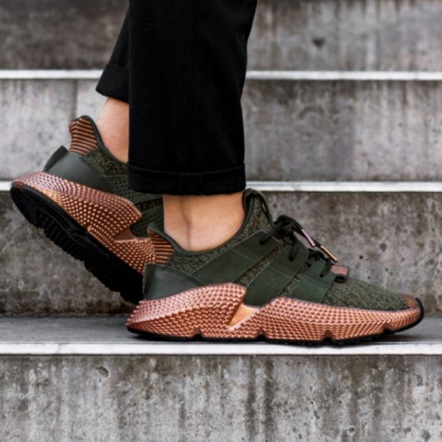 Adidas Prophere (olive/bronze) in as new condition... - Depop