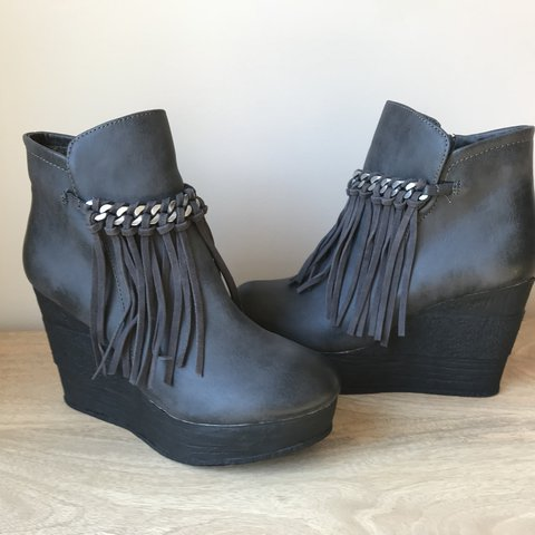 809caf3b02f6 Sbicca Vintage Collection wedge booties. New with Box. Never - Depop