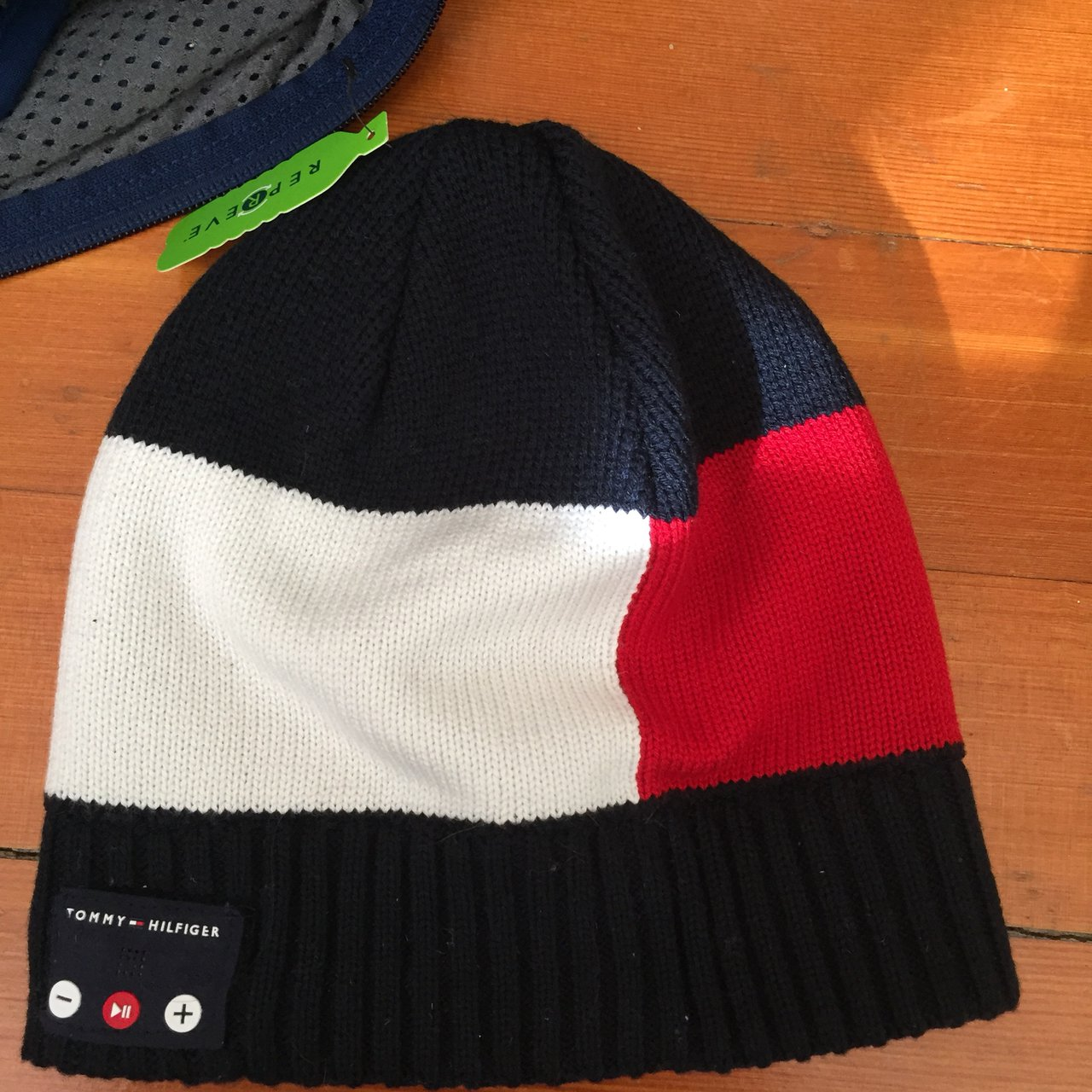 FREE DOMESTIC SHIPPING Tommy Beanie with Bluetooth inside! - Depop 5c426437e2f