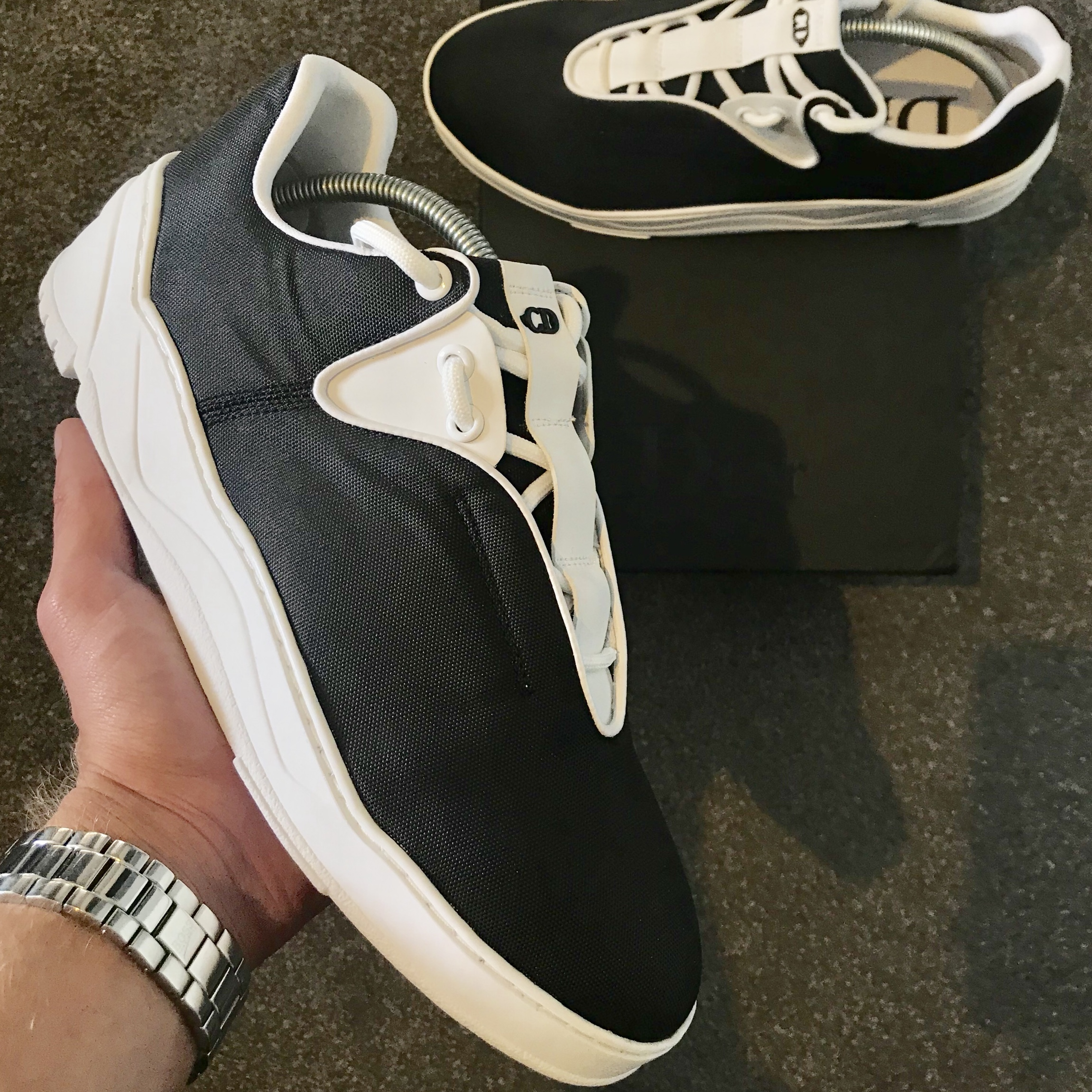 Dior Homme Runners Black and White In