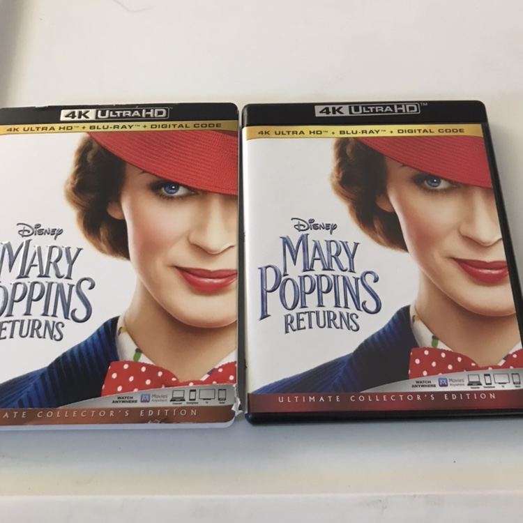 Up for sale is a Mary Poppins returns 4k/Blu-ray    - Depop