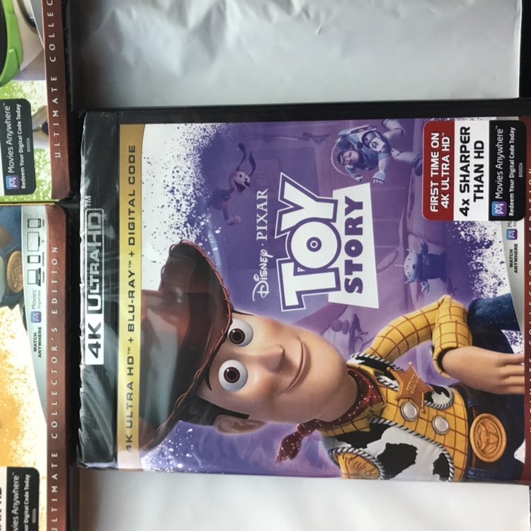 Up for sale is a Toy Story Trilogy (4K Ultra HD    - Depop