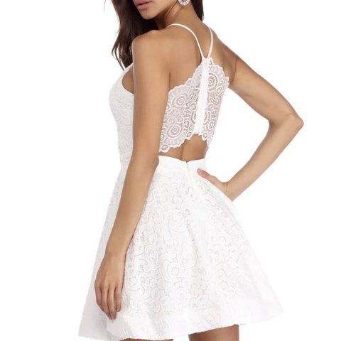"""422183fa593 Brand new with tags windsor skater dress in size s """"ivory in - Depop"""
