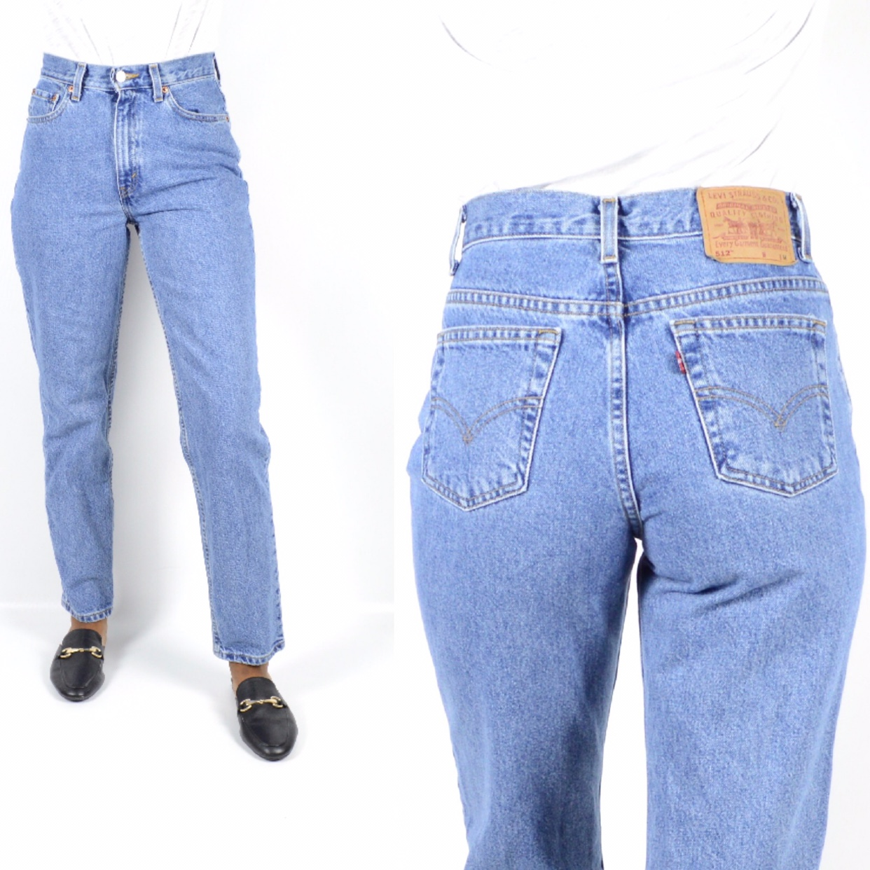 Vintage Levi's 512 High Rise Slim Fit Tapered Leg Depop