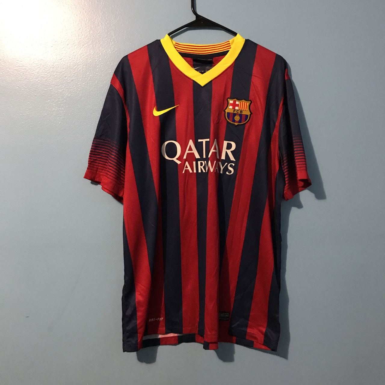 finest selection d891c 962aa Authentic Messi fc Barcelona jersey from 2014 size x... - Depop
