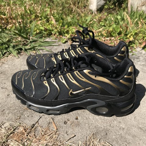 36f88a926e 🖤💛Nike TN Black & Gold💛🖤 Bought from Footlocker about a - Depop