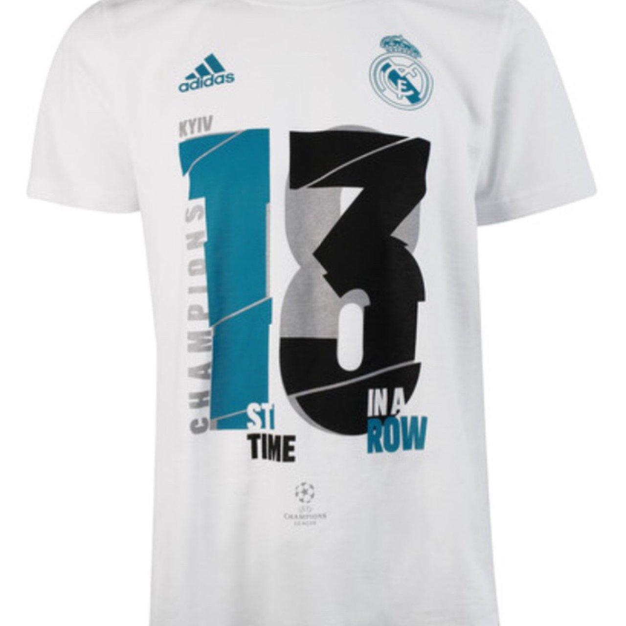 14452163d Real Madrid UCL 2018 Winners T-Shirt NEW WITH TAGS AND Real - Depop