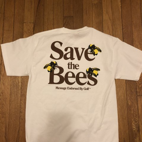 84b7e0677a92 SAVE THE BEES RARE FLOWER BOY BIG FISH TOUR SIZE  MEDIUM - Depop
