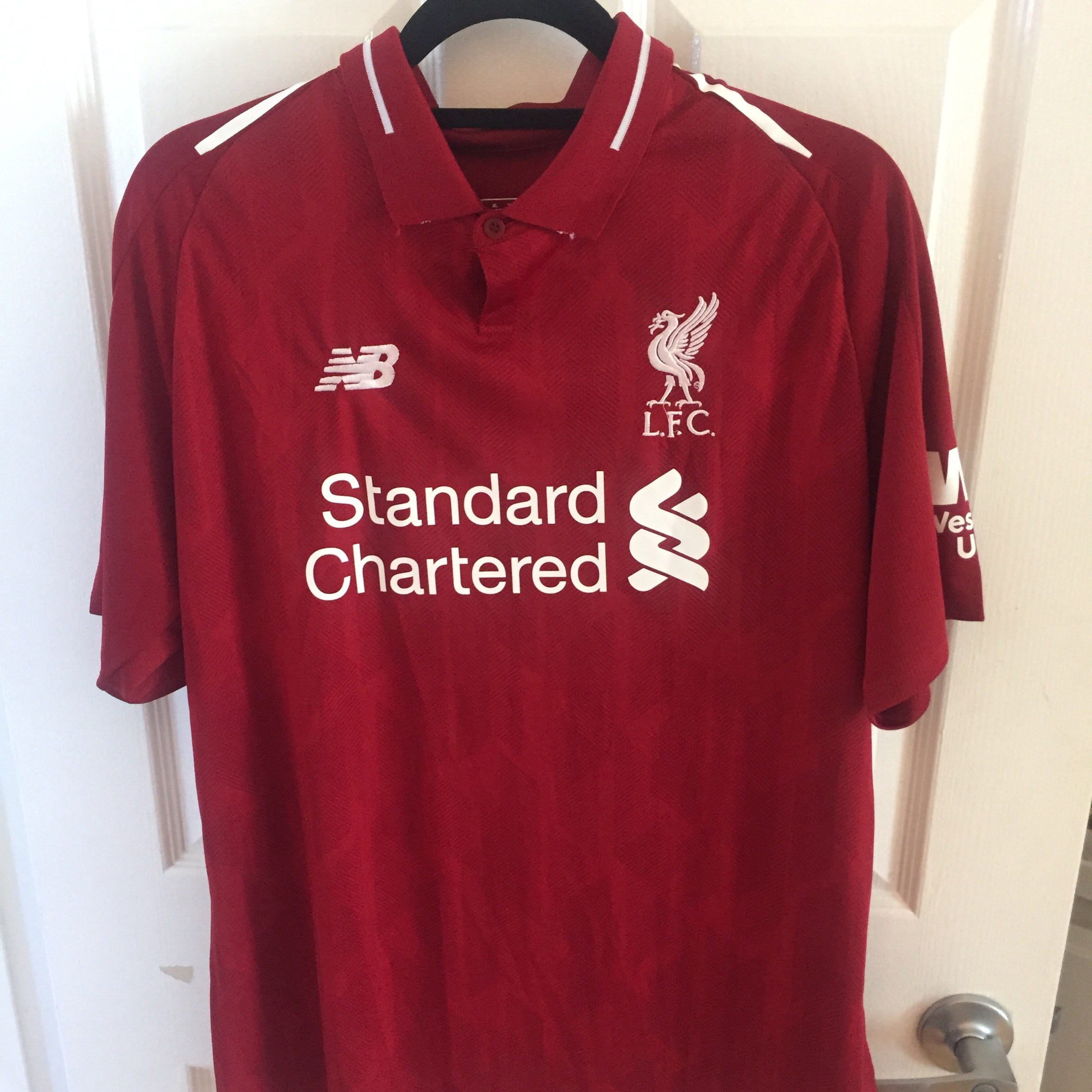 sale retailer 2abc2 3083a Mo Salah Liverpool jersey - brand new with tags -... - Depop
