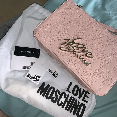 1dc1d83992f @0liviasmithh. 5 months ago. Newcastle Upon Tyne, United Kingdom. Genuine  baby pink love moschino bag, hardly used. Bought from house of Fraser ...