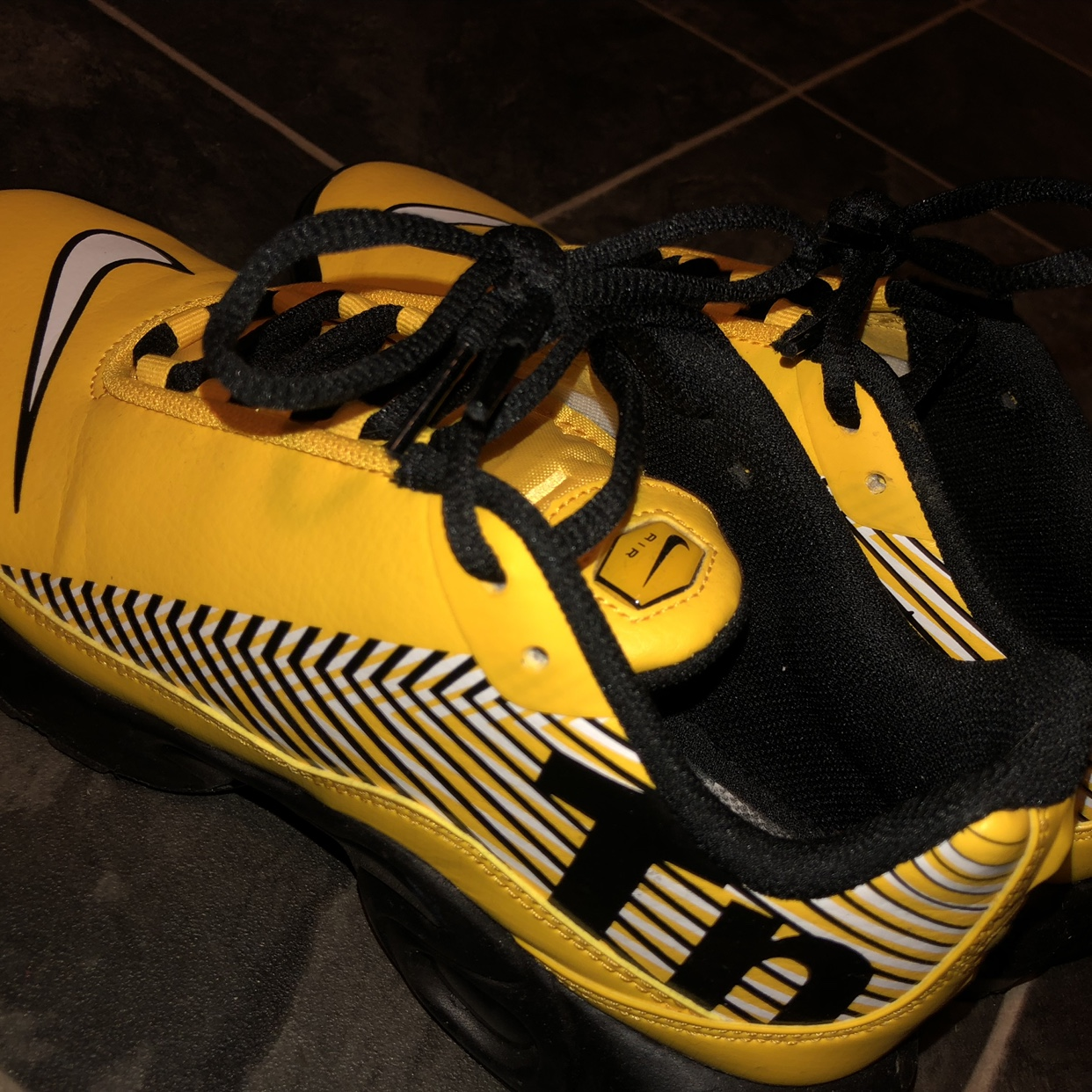 new style e87eb b5797 Yellow Nike Tuned 1 Mercurial,these are so nice but... - Depop