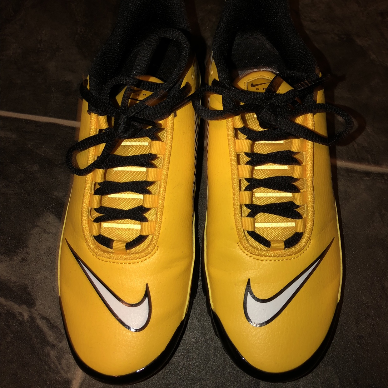 new style ac3c8 31bc7 Yellow Nike Tuned 1 Mercurial,these are so nice but... - Depop