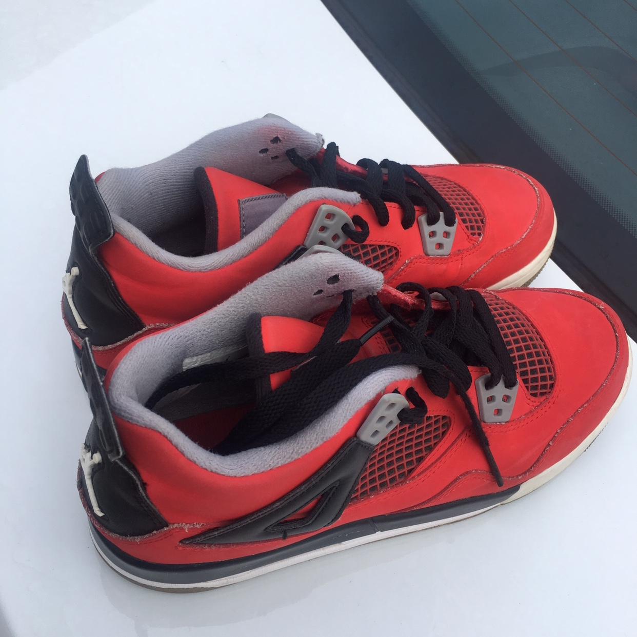 "buy popular b654e c2241 Air Jordan 4 Retro ""Toro Bravo"". Worn. Grade School... - Depop"