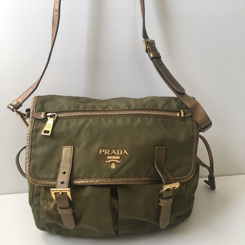 9edb72c7bc03 Genuine Prada handbag, across body satchel style. Cloth. of - Depop